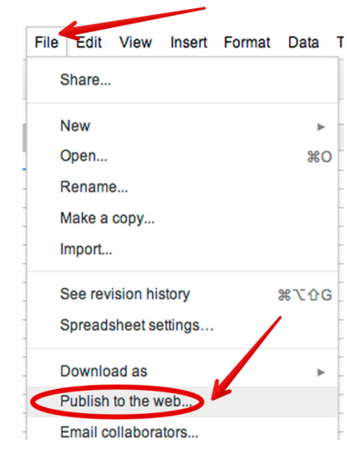Publishing Google Slides, Sheets, Forms And Docs